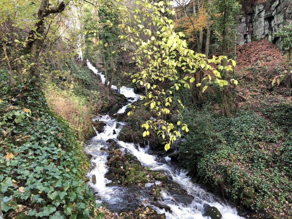 Lumsdale Falls in the Lumsdale Valley