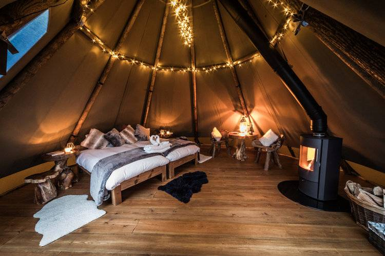 Glamping in the Peak District on Valentine's Day