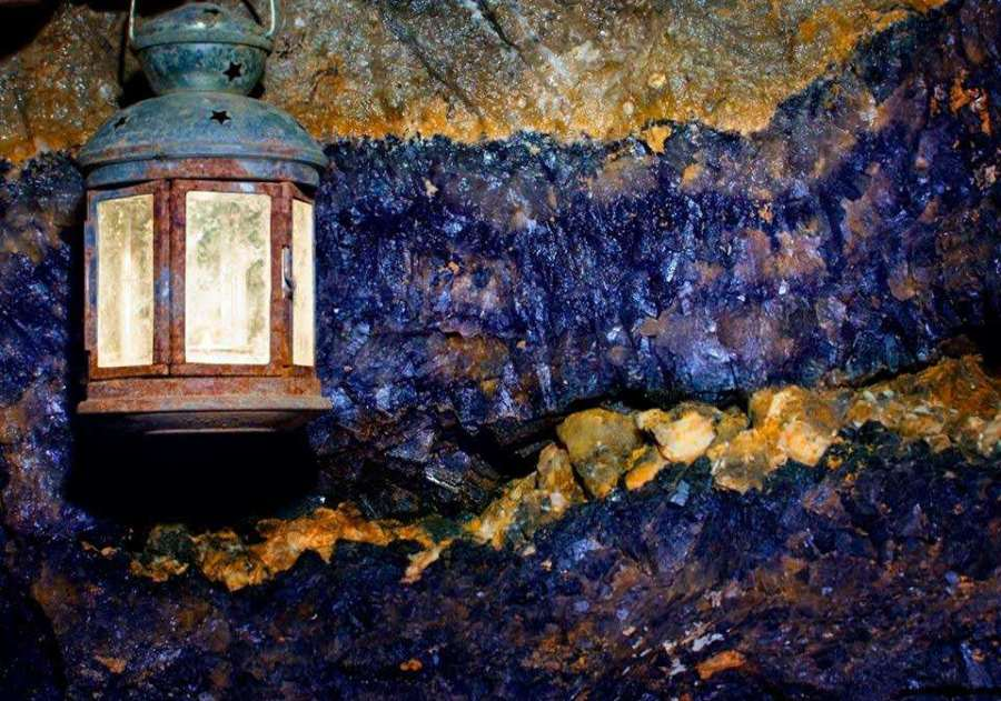 Blue John Stone at Treak Cliff Cavern